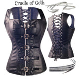 Handmade Dark Goddess Corset (plus size available)  - Cradle Of Goth