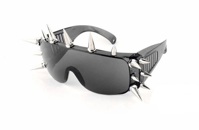Goddess of Spikes Sunglasses 17 Rivets 2 - Cradle Of Goth