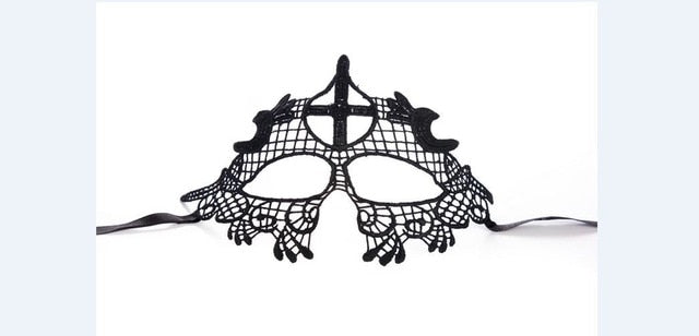 Mysterious Lady Face Mask 6 Cross - Cradle Of Goth