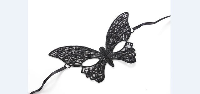 Mysterious Lady Face Mask 7 Butterfly - Cradle Of Goth