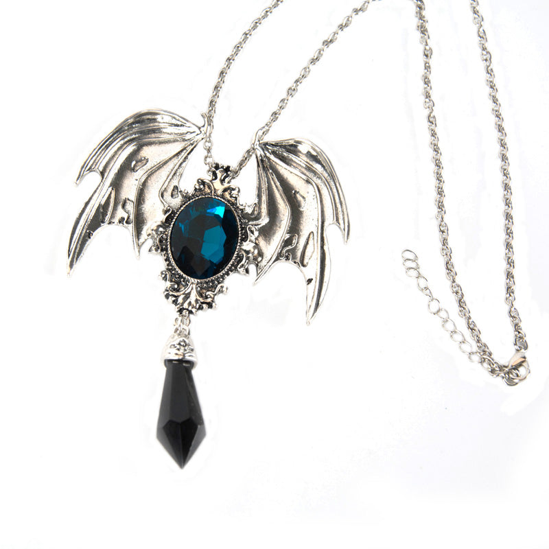 Dark Energy Angel Necklace (Handmade)  - Cradle Of Goth