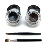 2 in 1 Black + Brown Gel Eye-Liner  - Cradle Of Goth