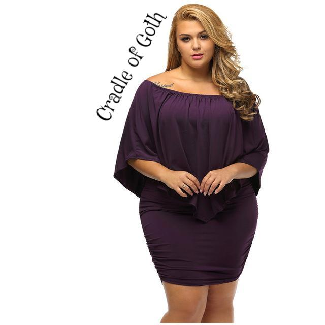 Gothic Enchantress Dress (plus size available) Purple / L - Cradle Of Goth