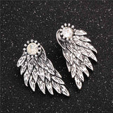 Black Angel Wings Silver - Cradle Of Goth