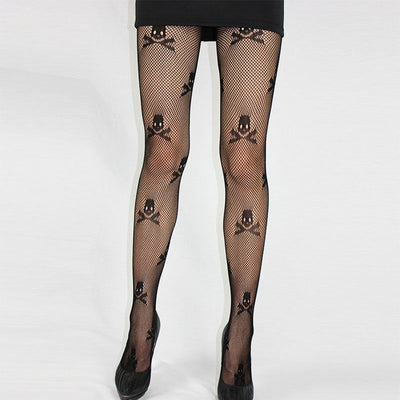 Skulls and bones Tights  - Cradle Of Goth