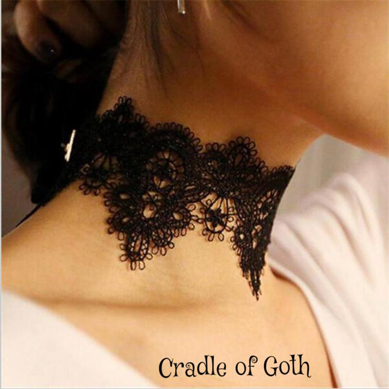 Lacy Choker  - Cradle Of Goth