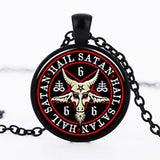 Baphomet's Pendant Necklace black2 - Cradle Of Goth