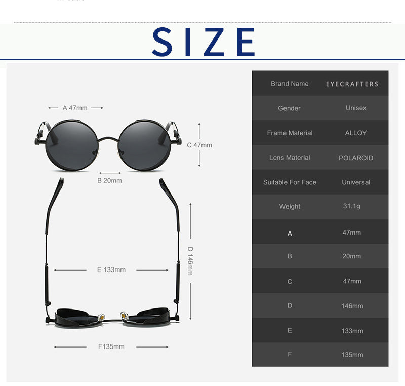 Black Polarized Sunglasses  - Cradle Of Goth