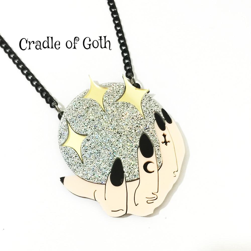Crystal Ball Necklace  - Cradle Of Goth
