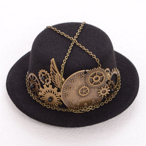 Steampunk Mini Top Hat Default Title - Cradle Of Goth