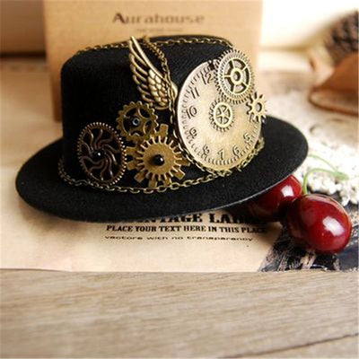 Steampunk Mini Top Hat  - Cradle Of Goth