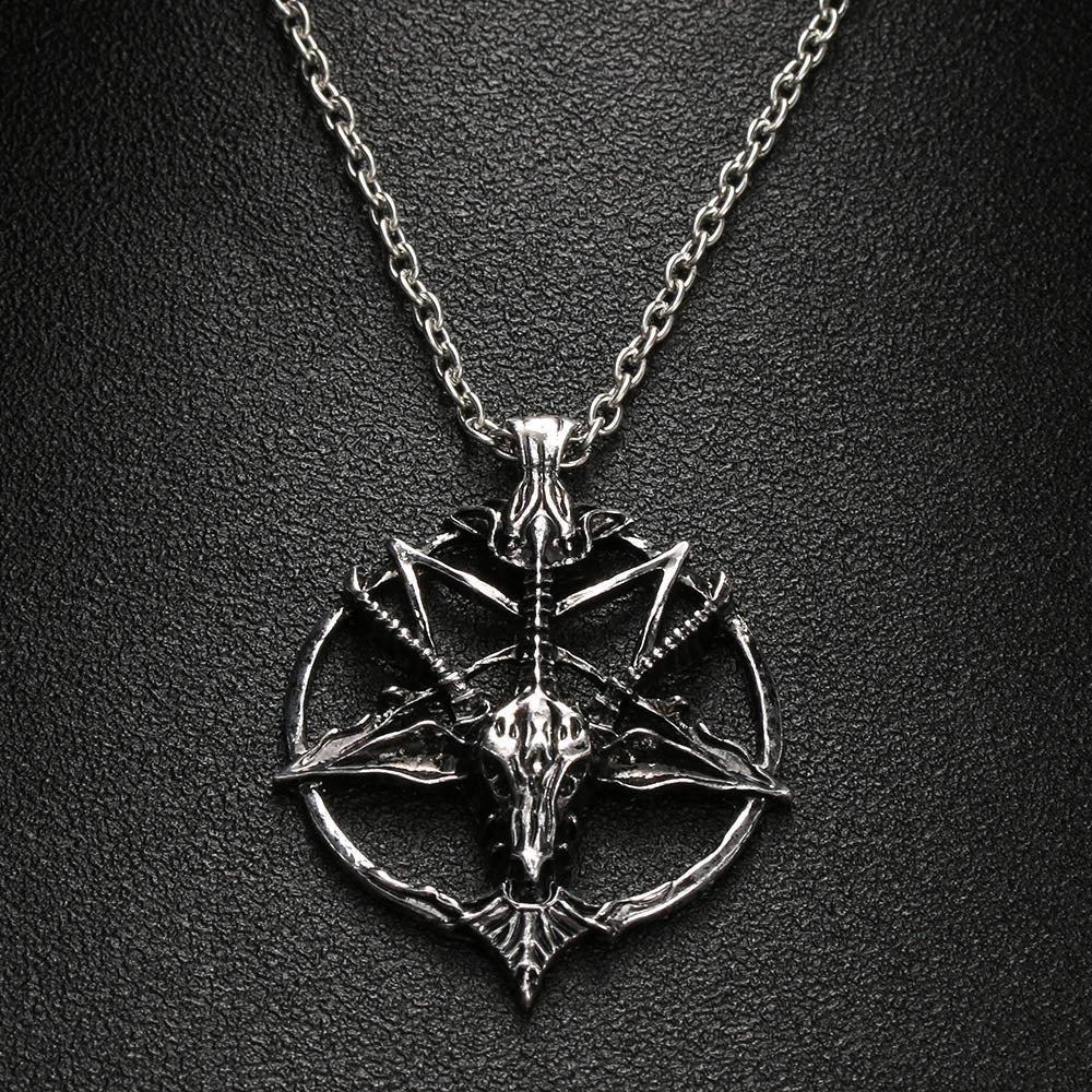 Pentagram Necklace FS silver - Cradle Of Goth