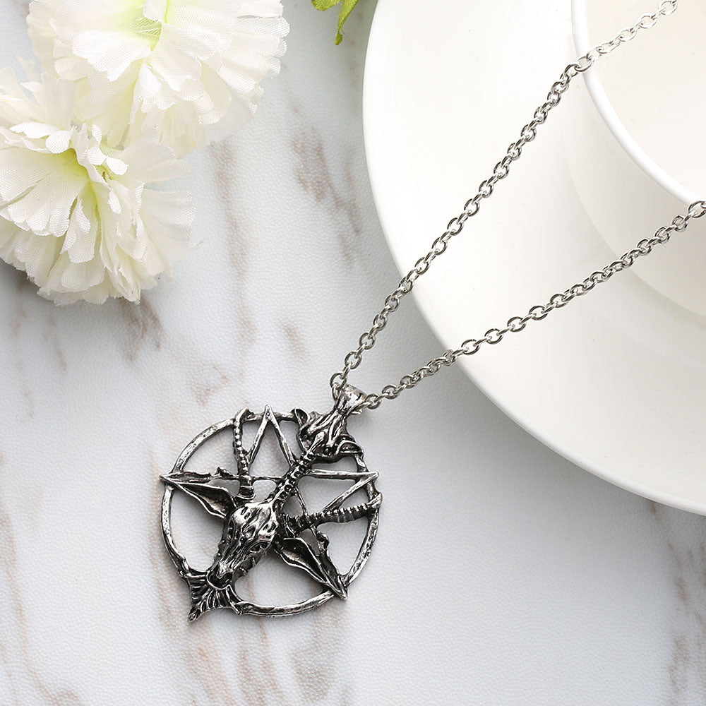 Pentagram Necklace silver - Cradle Of Goth