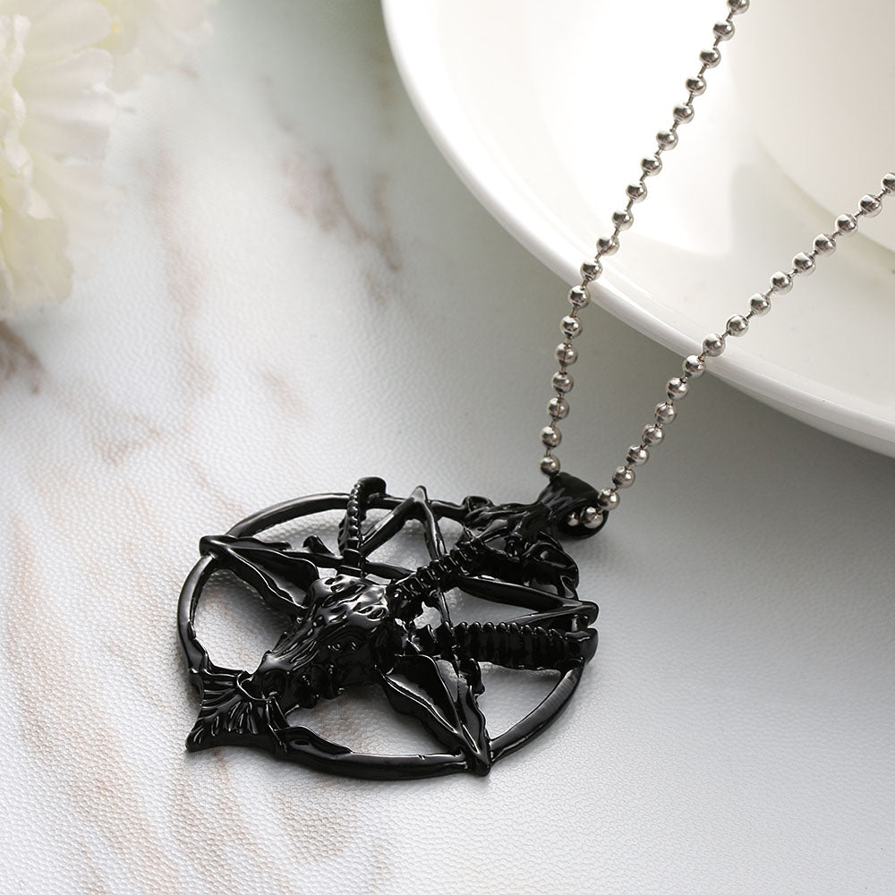 Pentagram Necklace FS  - Cradle Of Goth