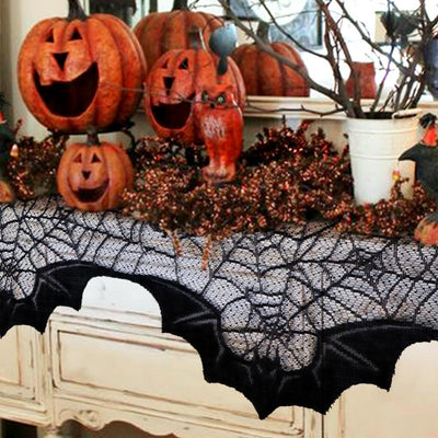 Bats in a Spider Web Decoration  - Cradle Of Goth