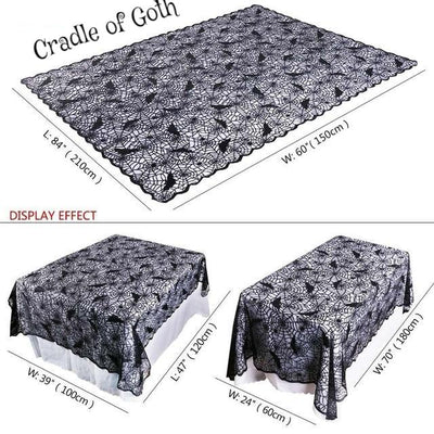 Spiderweb Long Tablecloth Default Title - Cradle Of Goth