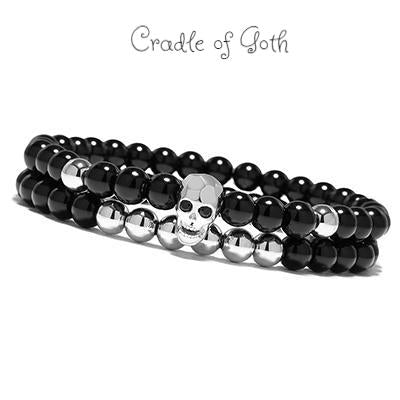 Death Charm Bracelet Silver - Cradle Of Goth