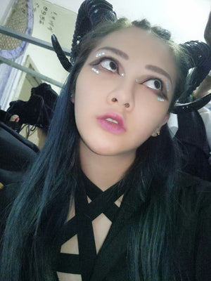Horns Headband (handmade)  - Cradle Of Goth