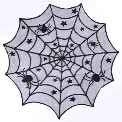 Round Spider Web Tablecloth  - Cradle Of Goth