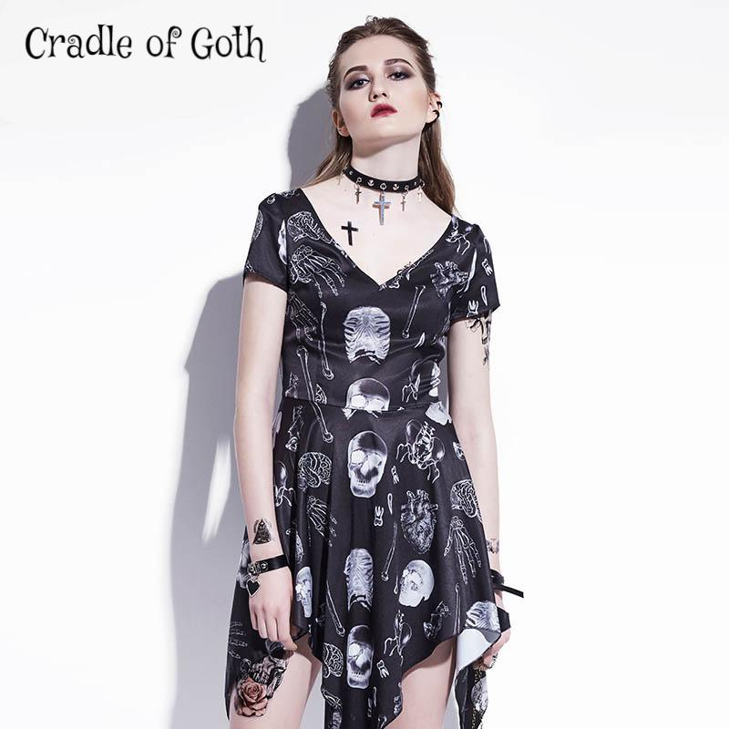 Bones & Skulls Dress  - Cradle Of Goth