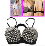 Spiked Bra Silver / 34 - Cradle Of Goth