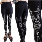 Occult Cat Leggings  - Cradle Of Goth