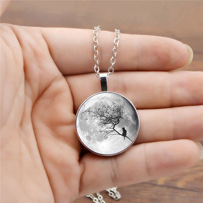 Gray Moon Necklace YG0064 - Cradle Of Goth