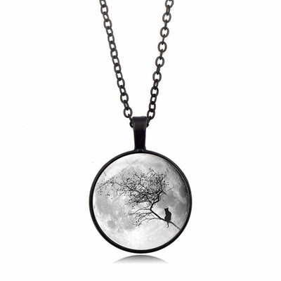 Gray Moon Necklace YG0066 - Cradle Of Goth
