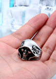 Mysterious Death Smile Ring  - Cradle Of Goth