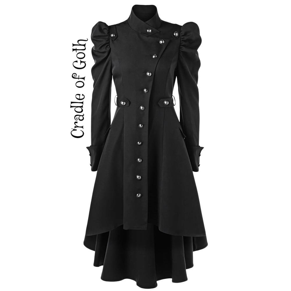 Winter Enchantress Trench Coat Black / L - Cradle Of Goth