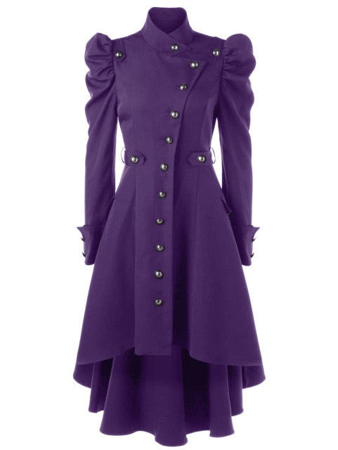 Winter Enchantress Trench Coat Purple / L - Cradle Of Goth