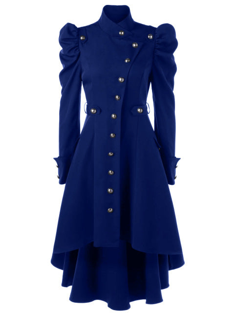 Winter Enchantress Trench Coat Blue / L - Cradle Of Goth