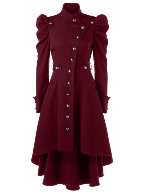 Winter Enchantress Trench Coat Red / L - Cradle Of Goth
