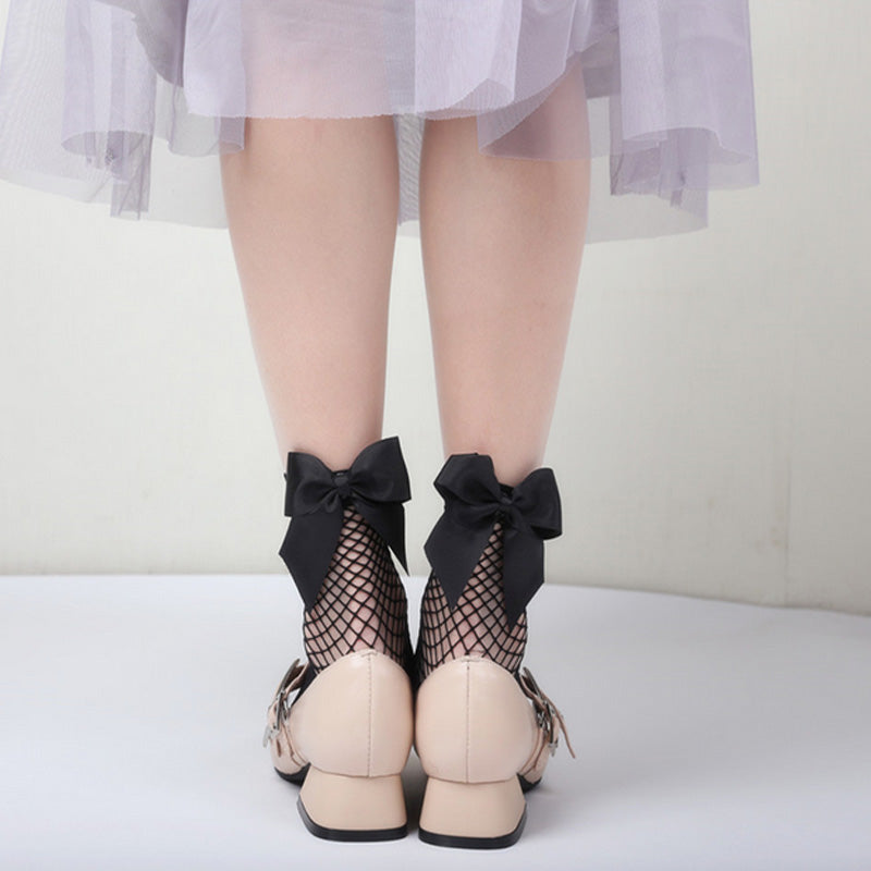 Lace and Bow Socks  - Cradle Of Goth