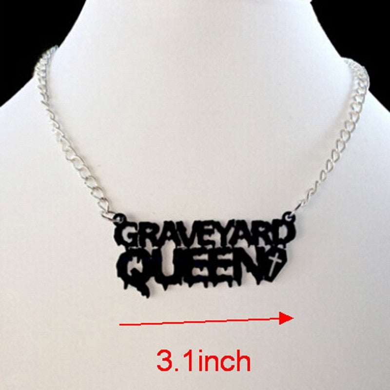 Graveyard Queen Necklace  - Cradle Of Goth