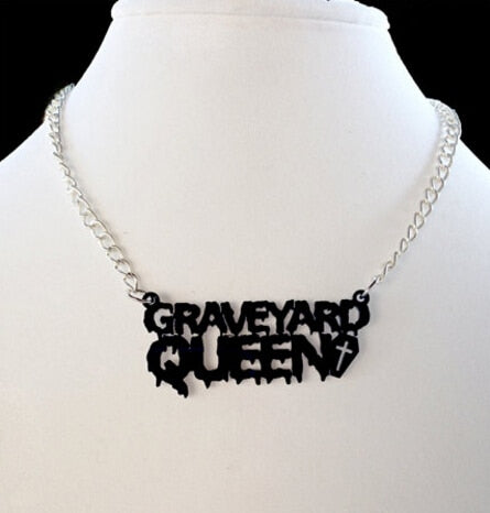 Graveyard Queen Necklace Default Title - Cradle Of Goth