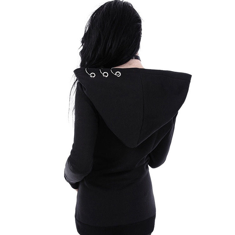 Gothic Rings Hoodie (plus sizes available)  - Cradle Of Goth