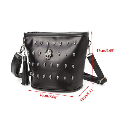 Haunting Skull Shoulder Bag  - Cradle Of Goth