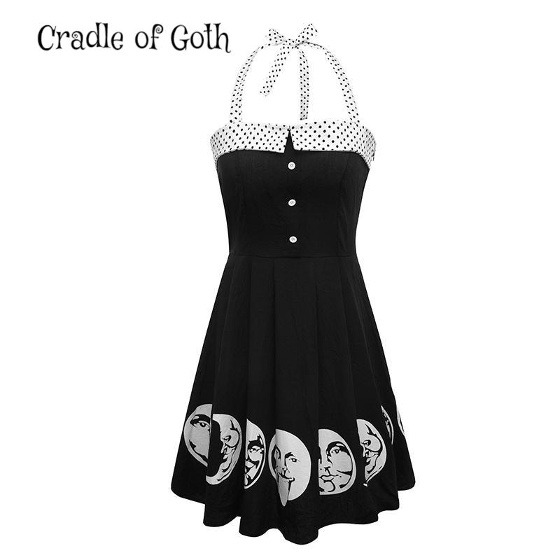 Moon Backless Dress  - Cradle Of Goth
