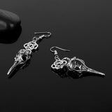 Crow Skull Earrings  - Cradle Of Goth