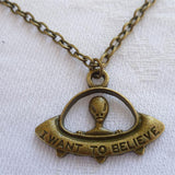 UFO Necklace Bronze - Cradle Of Goth