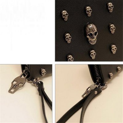 Smiling Skulls Wallet (Vegan Leather)  - Cradle Of Goth