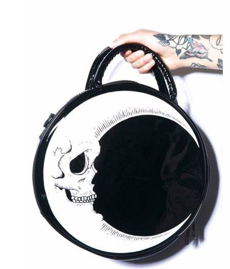 Moon Of Death Handbag (Vegan Leather)  - Cradle Of Goth