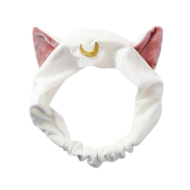 Mystery Cat Headband White - Cradle Of Goth