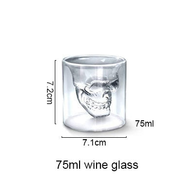Transparent Skull Glass middle - Cradle Of Goth