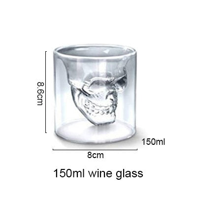 Transparent Skull Glass large - Cradle Of Goth
