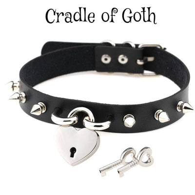 Spiked Love Choker  - Cradle Of Goth