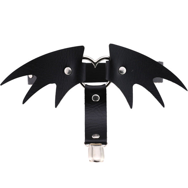 Bat Wings Garter Default Title - Cradle Of Goth