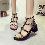 Summer Goth Sandals (Vegan Leather)  - Cradle Of Goth