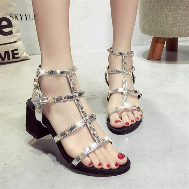 Summer Goth Sandals (Vegan Leather) Silver / 4.5 - Cradle Of Goth